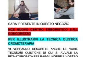 INVITO PRESSO ERBORISTERIA NCE TEMA CROMOTERAPIA