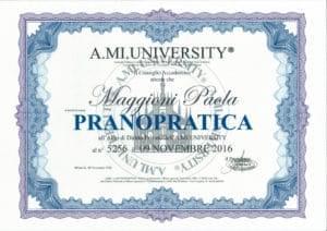 Iscrizione Albo di Diritto Privato al n°5256 A.MI. UNIVERSITY PRANOPRATICA - 19 novembre 2016 - Paola Maggioni