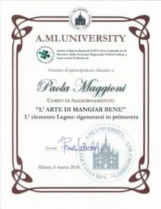 """Corso di aggiornamento """"L'ARTE DI MANGIAR BENE"""" Paola Maggioni"""