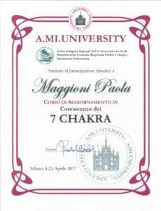 Conoscenza dei 7 CHAKRA- 23 aprile 2017 - Paola Maggioni