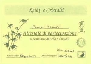 Seminario di Reiki e Cristalli - dicembre 2014 - Paola Maggioni