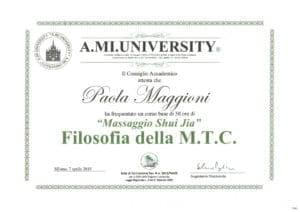 """""""MASSAGGIO SHUI JIA"""" Filosofia della M.T.C. 07 - aprile 2019"""